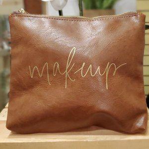 Makeup - Faux Leather Makeup Bag
